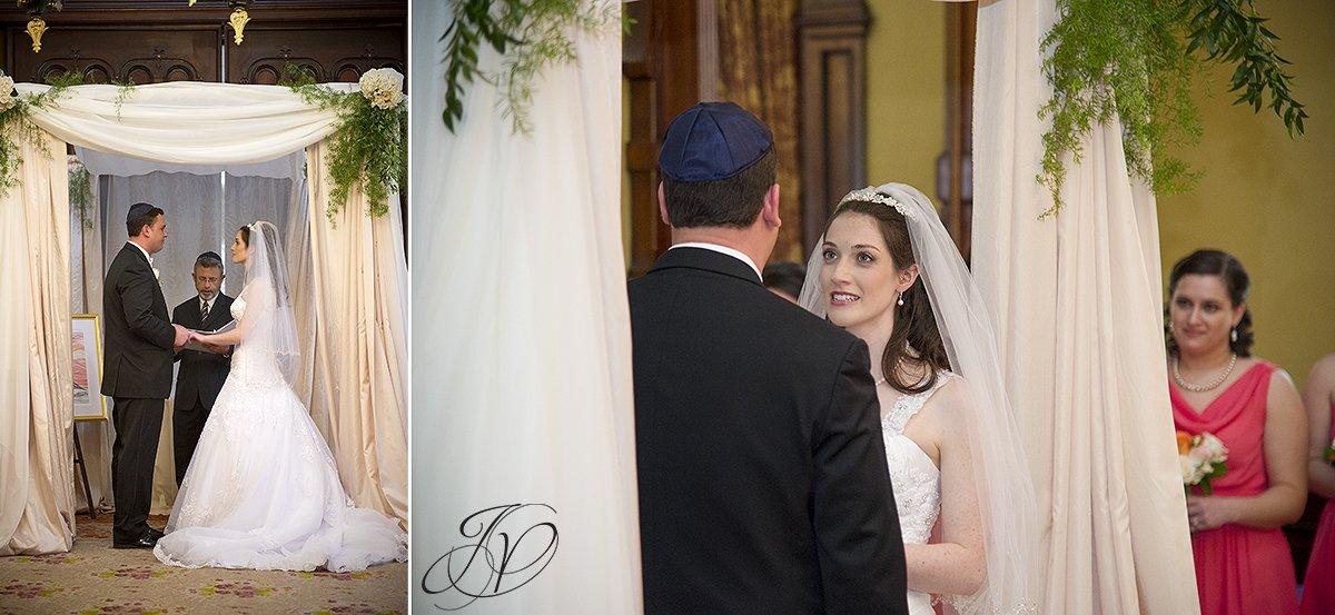 bride and groom at alter photo, choppa photo, jewish weddind, traditional jewish wedding photo, Saratoga Wedding Photographer, The Canfield Casino wedding
