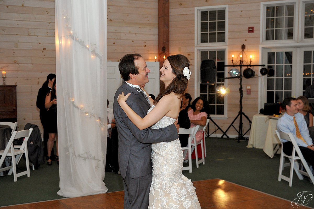 emotional bride and father first dance