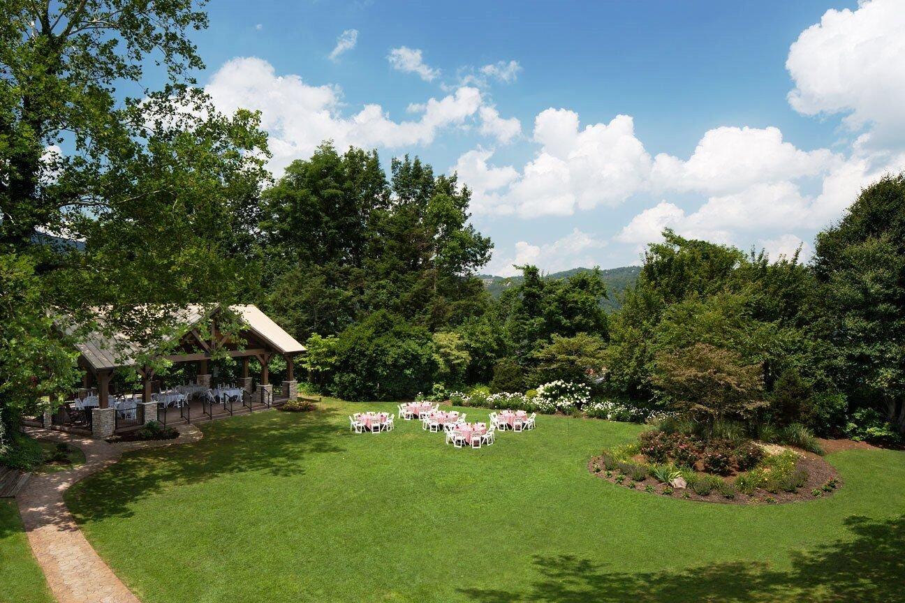 Reception On The Mountain Gatlinburg S Little Log Wedding