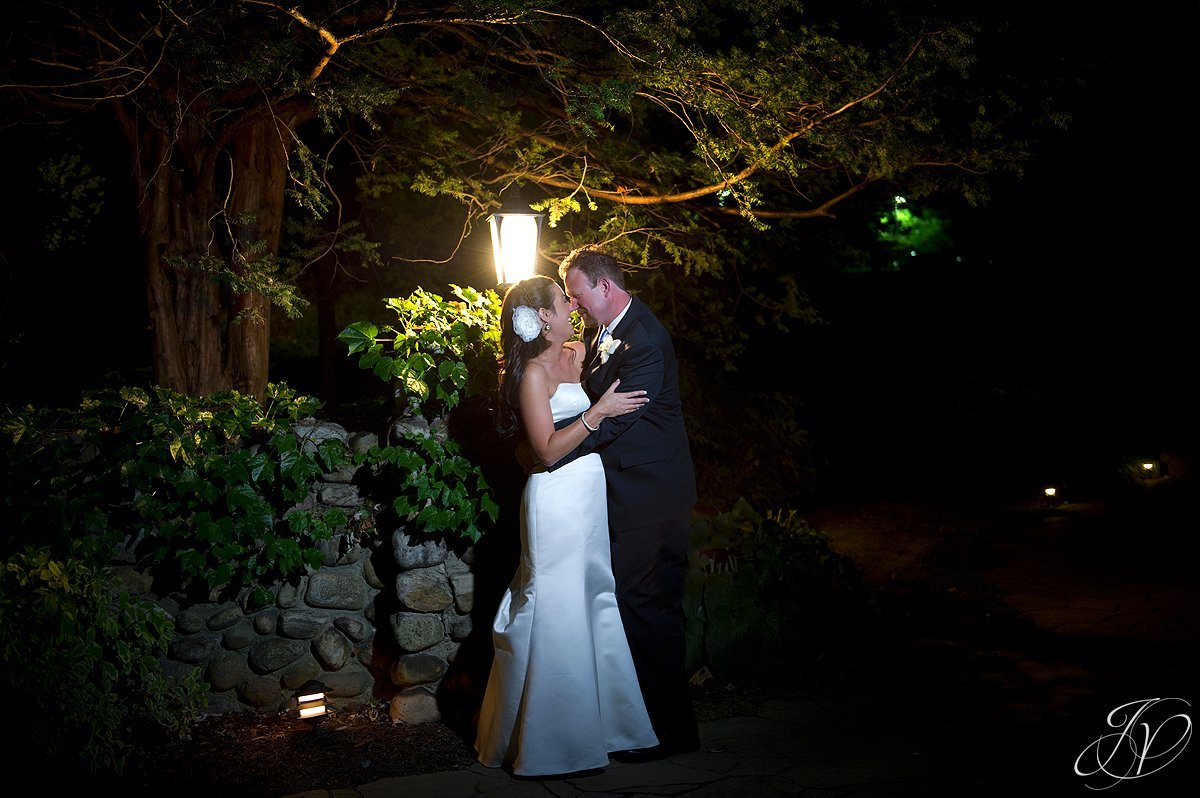 night photography, bride and groom outside at night, bride dancing photo, wedding reception photo, schenectady wedding photographer, riverstone manor reception, riverstone manor terrace tent