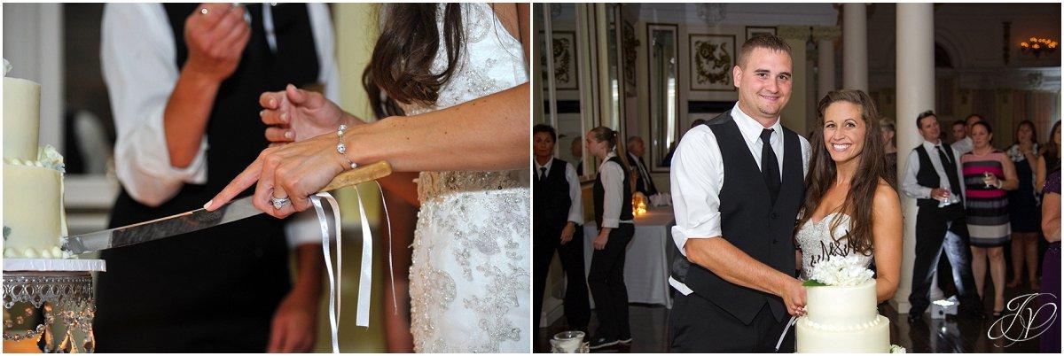 cake cutting wedding reception canfield casino