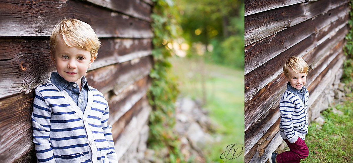 family fall portrait children barn portrait