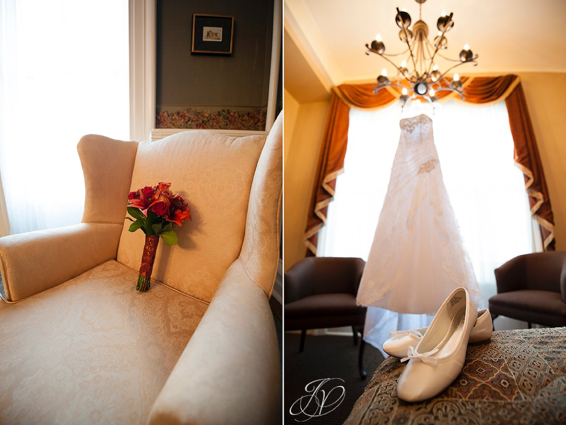 wedding flower photo, Wedding at The Stockade Inn, Schenectady Wedding Photographer, wedding dress details, wedding dress photo