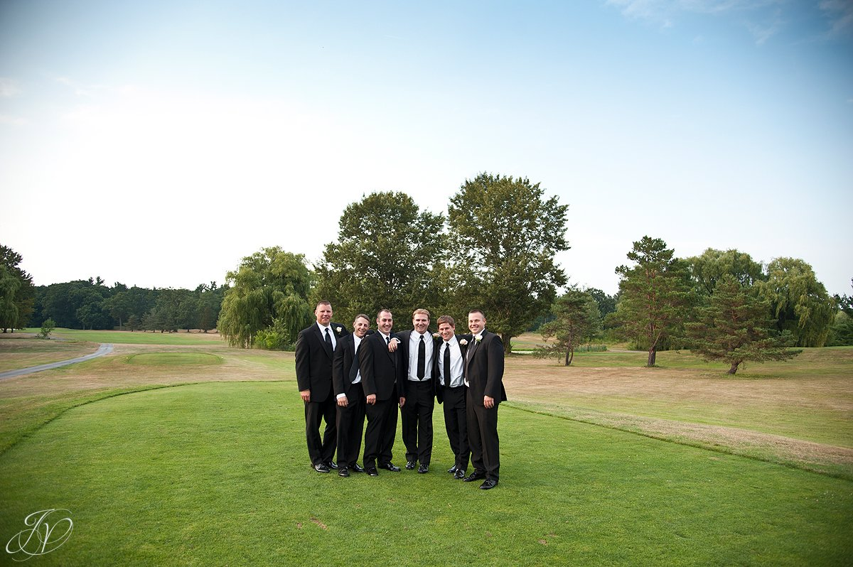 Saratoga Wedding Photographer, Mohawk River Country Club & Chateau, groomsman photo, bridal party photo