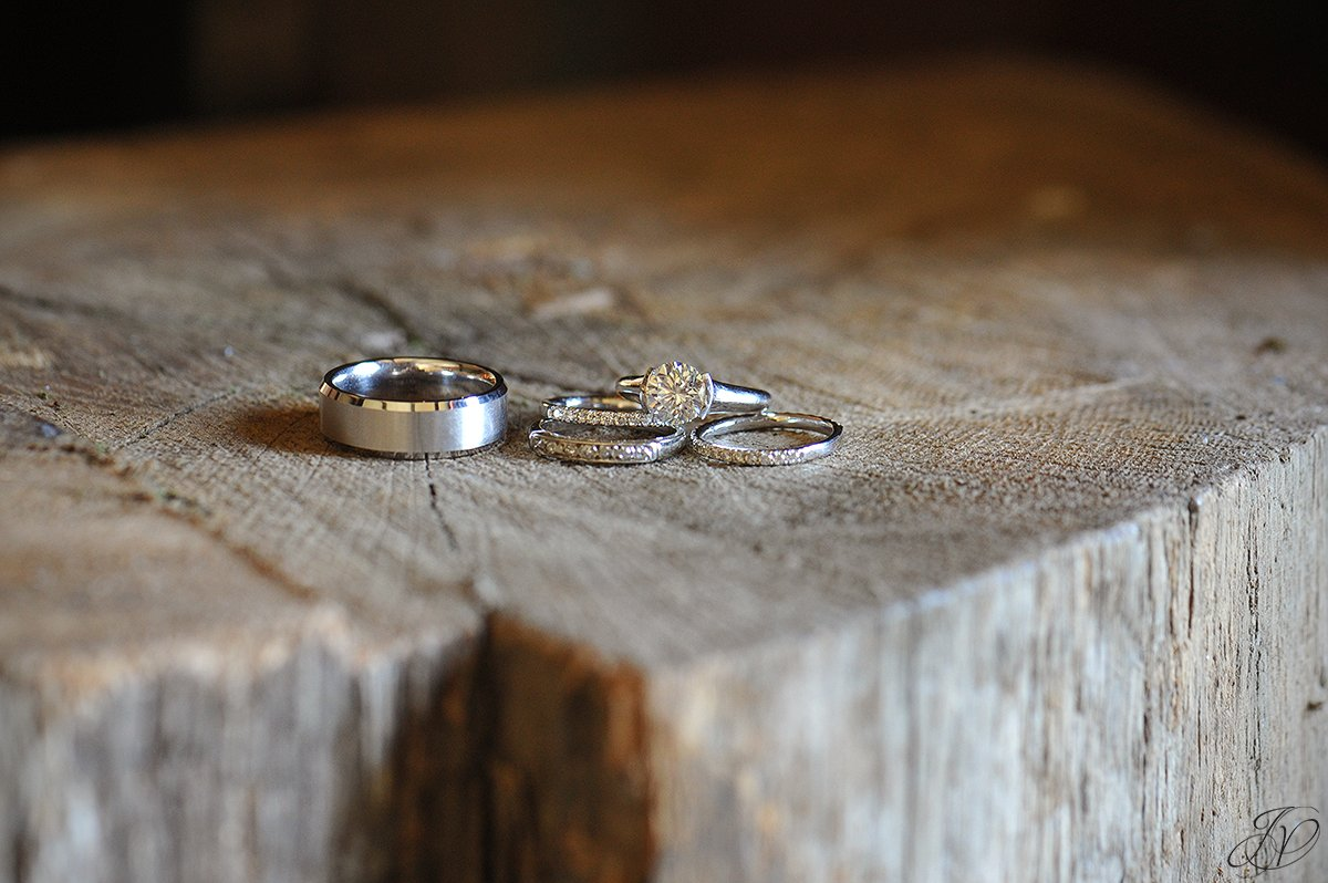 unique rustic wedding bands photo