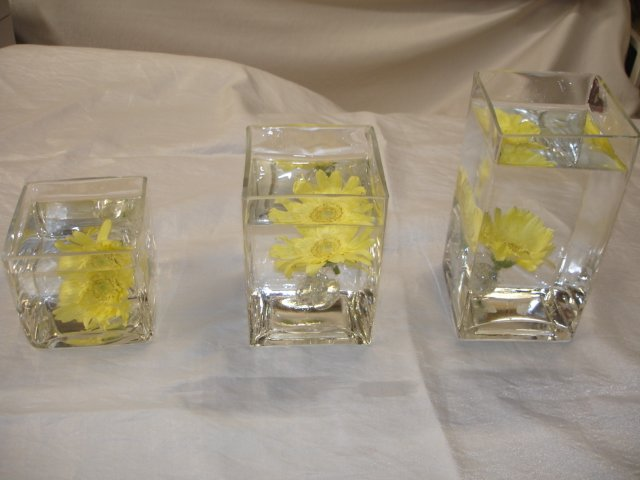 Square Vase Trio Set Eventful Floral