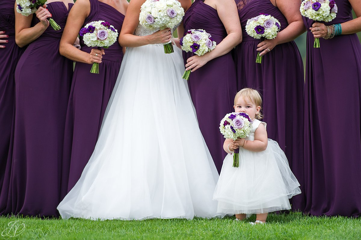 bridal party photo saratoga national purple dresses