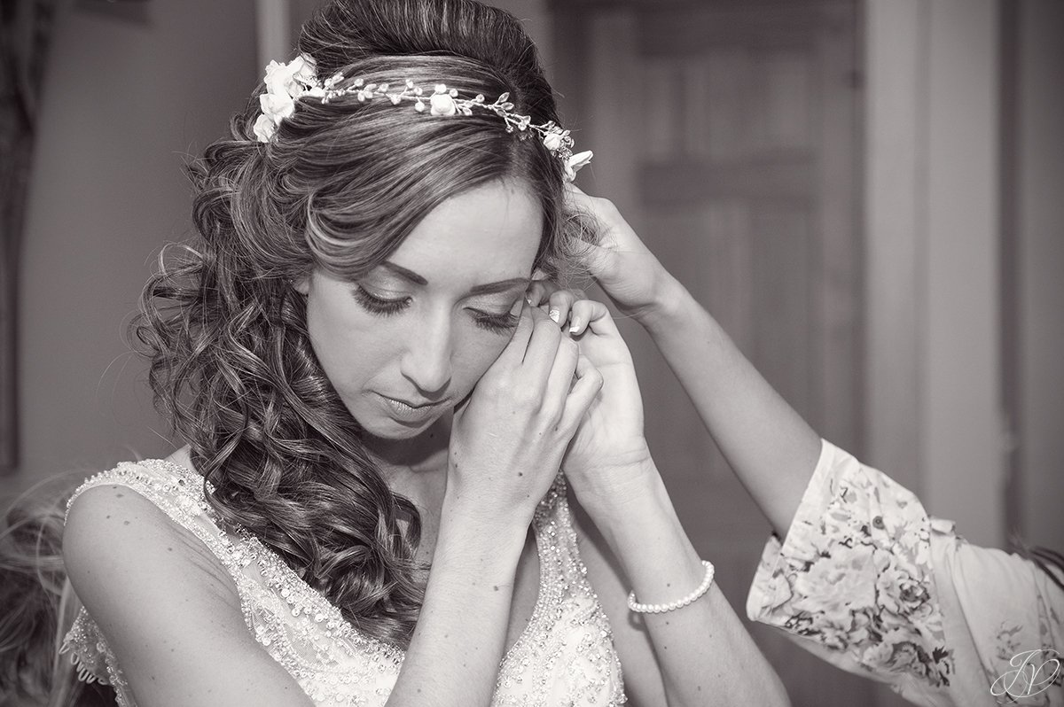 details of bride getting ready lake placid wedding