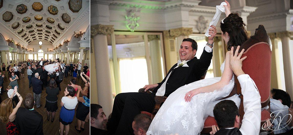 the hora dance, jewish hora dance photo, wedding first dance photo, bride and groom first dance,The Canfield Casino wedding, Saratoga Wedding Photographer, wedding in congress park photo