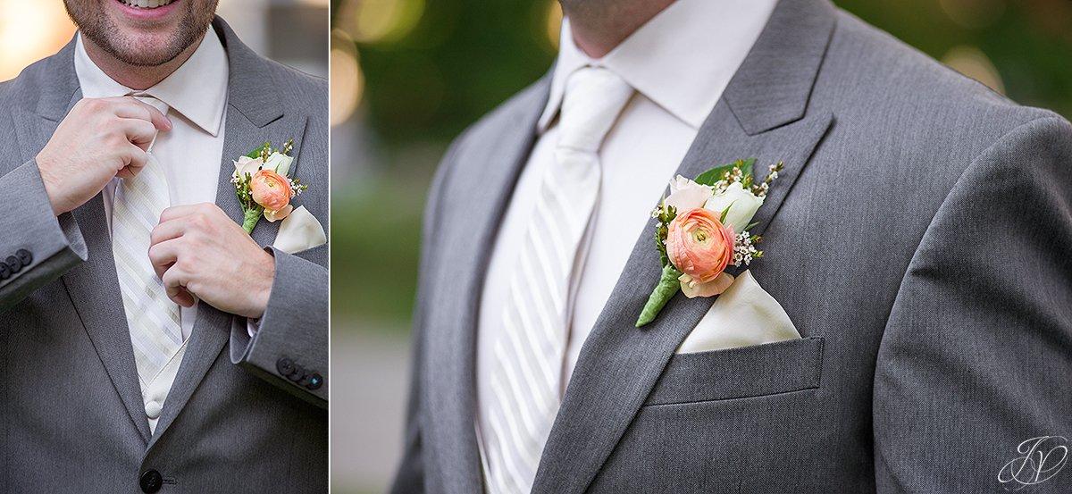 details of grooms wear