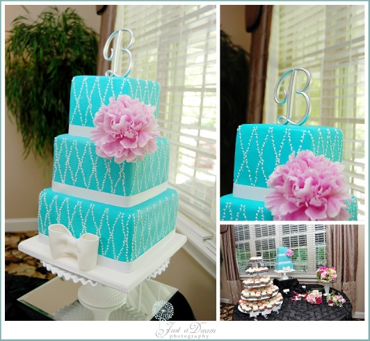 Thrifty/Trendy Thursday: Blue Wedding Cake - Just a Dream ...