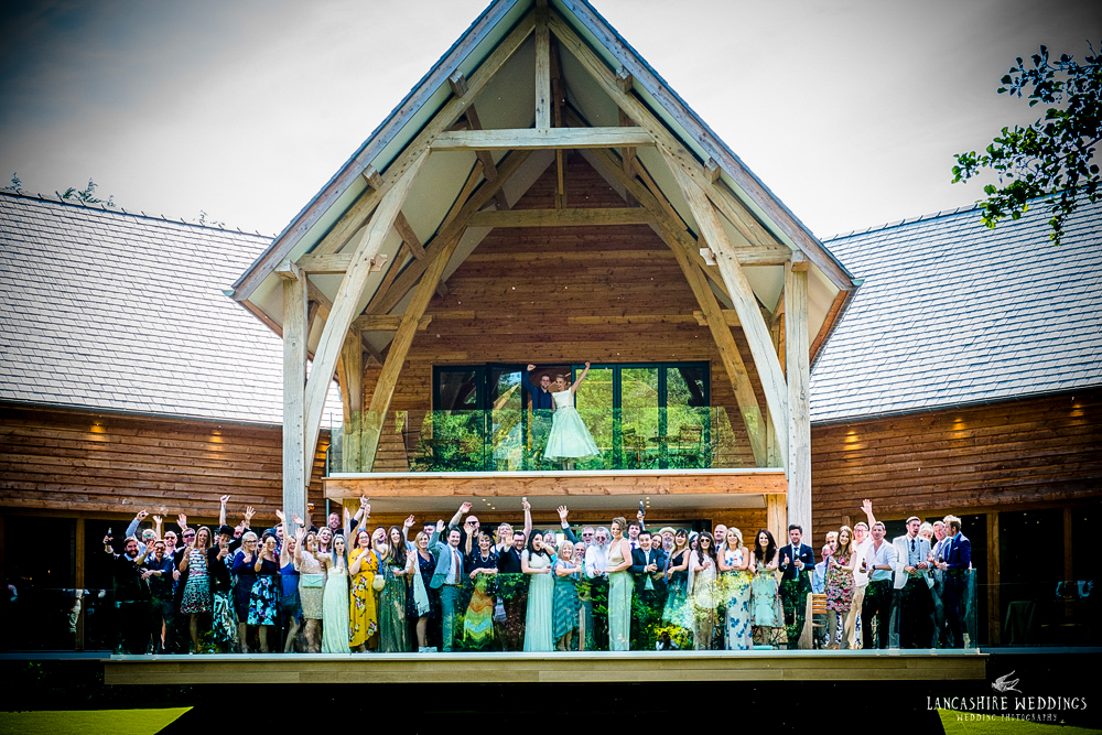 The Mill Barns wedding group photo