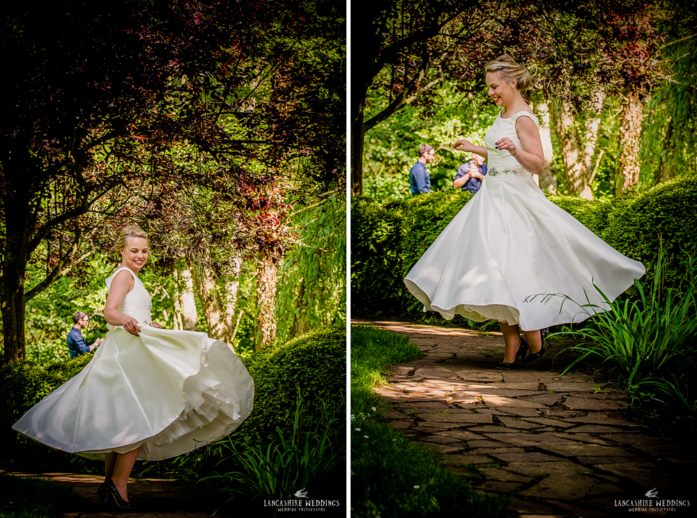 Bride with beautiful dress at The Mill Barns Aveley