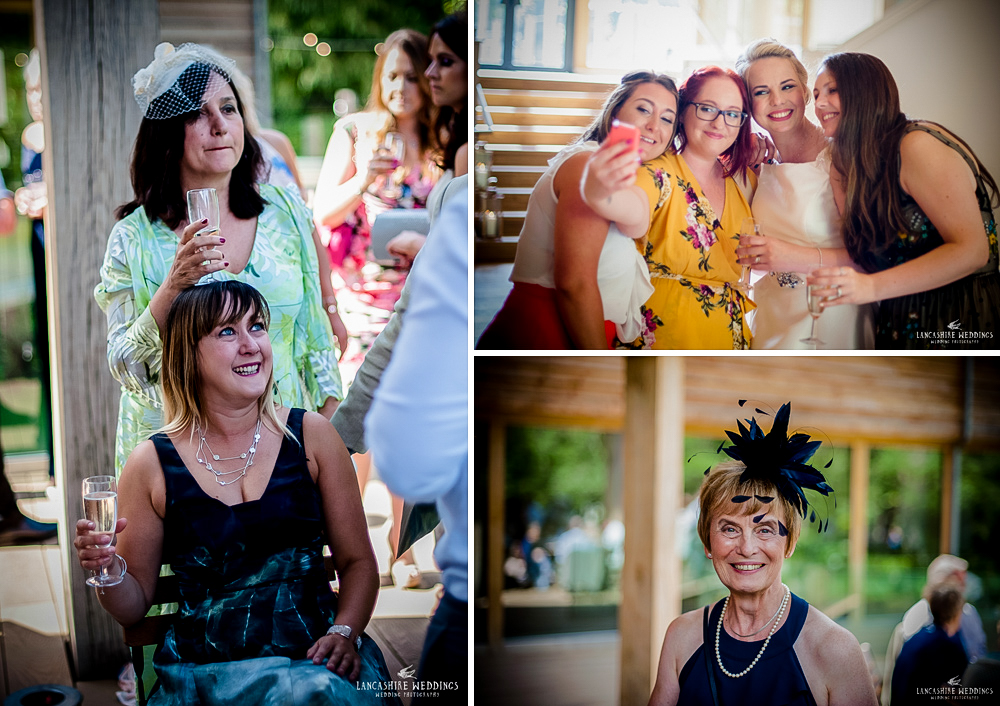 Quirky wedding guests at The Mill Barns