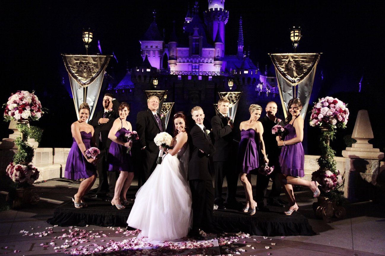 night castle wedding brettany kyle beverly hills photography 1 wedding photography choice at disneyland