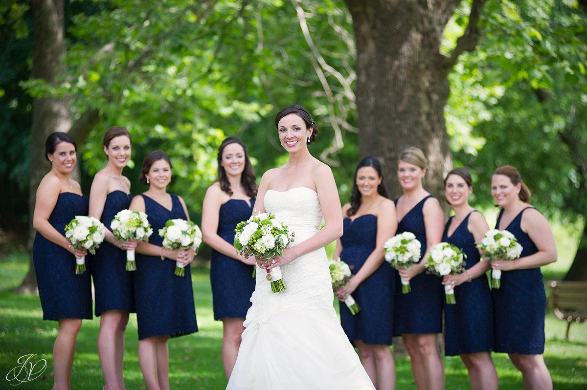beautiful shot of brides in congress park saratoga springs