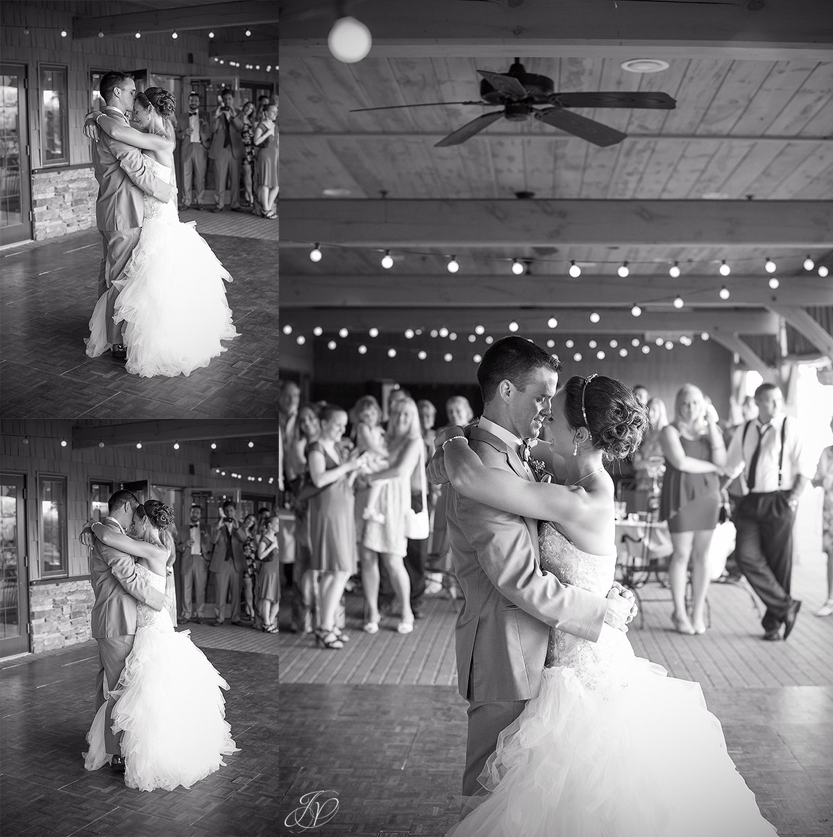 first dance bride and groom Arrowhead Golf Club black and white