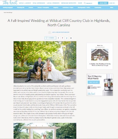 highlands nc wedding photographers featured wedding the knot photo