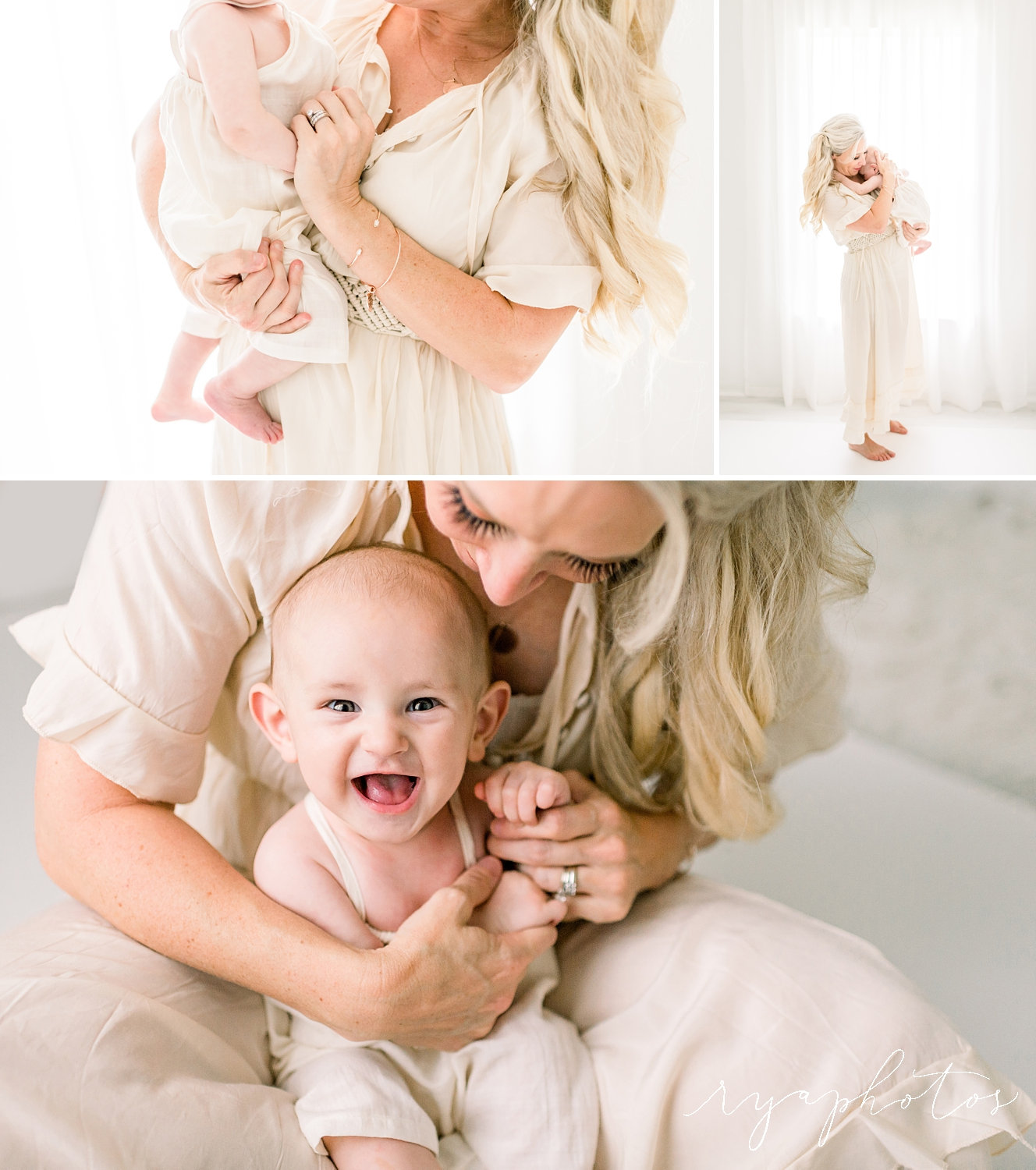 studio, motherhood portrait session, Jacksonville, Florida, Rya Duncklee