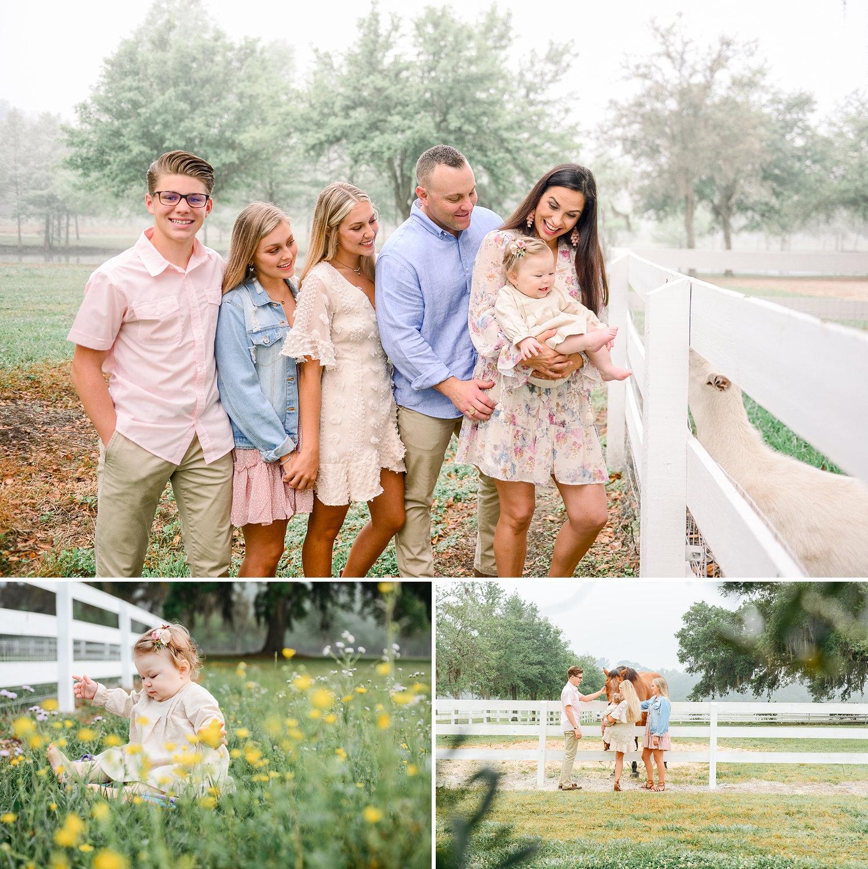 image collage, beautiful family of 6, Jacksonville, Florida family photographer, Ryaphotos